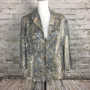 Chico's silver and gold jacket